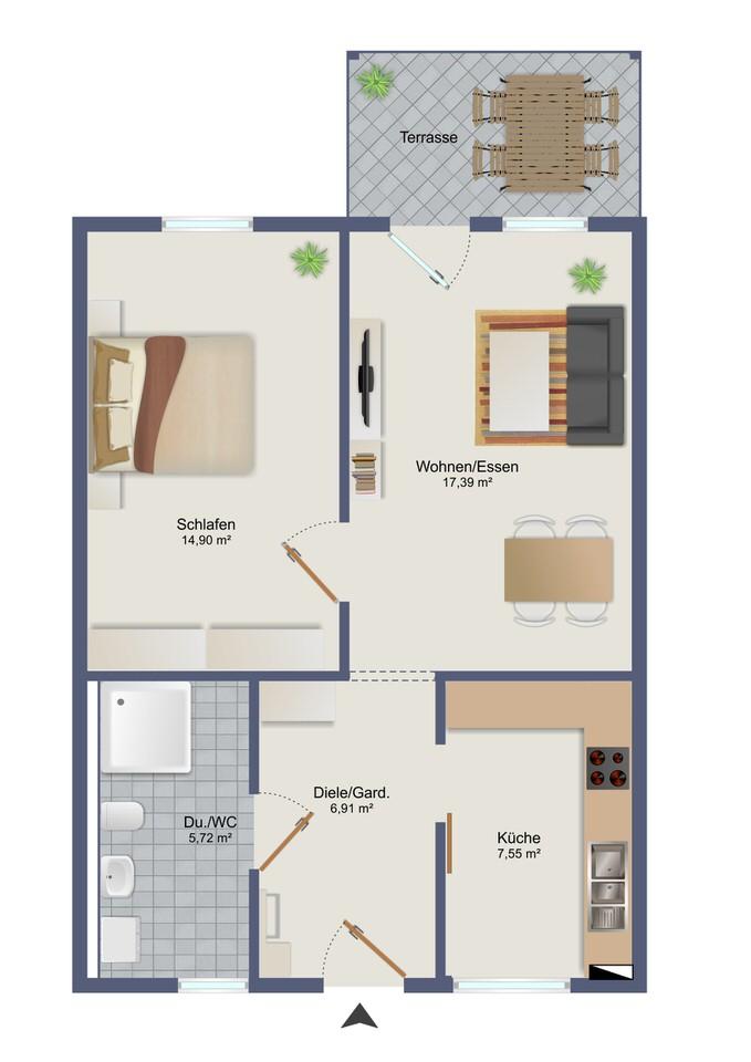 Wohnung 2 - Zum Glück Bötzow