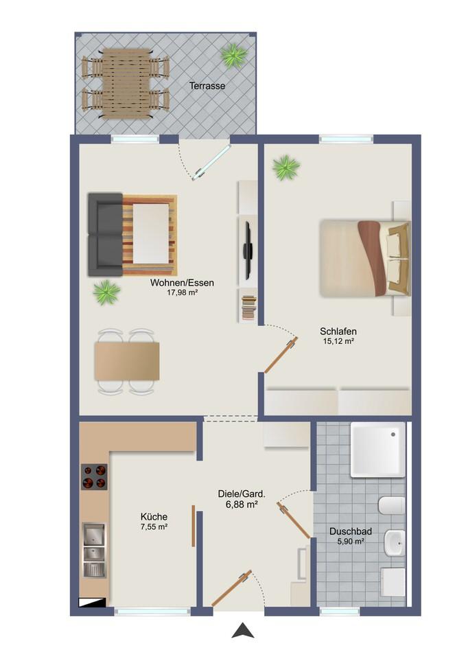 Wohnung 1 - Zum Glück Bötzow
