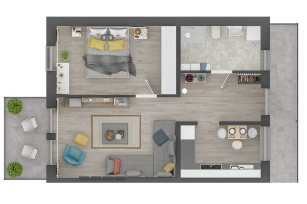 apartment 1 orthogonal