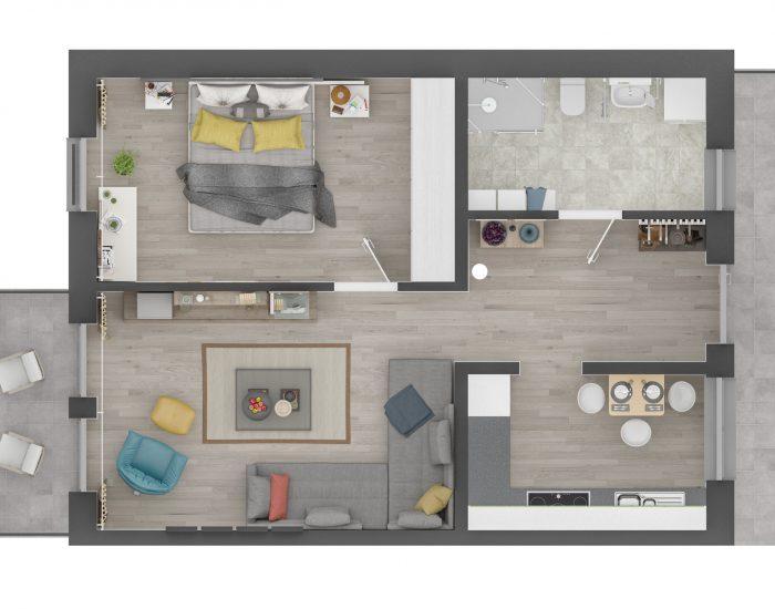 apartment 1 orthogonal